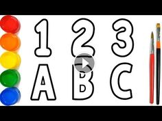 Glitter Alphabet And Numbers Coloring Pages
