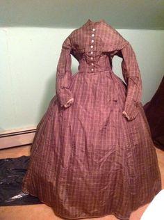 silk ladies civil war dress