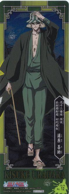 Urahara Kisuke a.k.a according to ichigo mr hat and clogs guy
