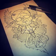 Another Option for my Chest Piece?? but ill re-draw it adding a few things in and removing some as well