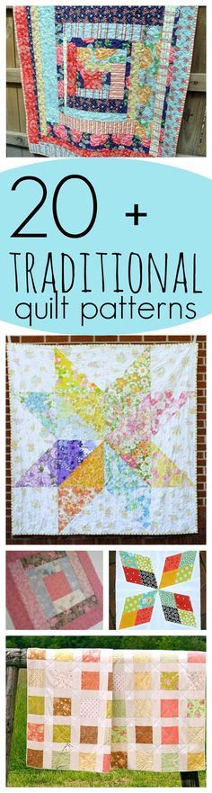 24 Traditional Quilt Patterns: Free Traditional Quilt Blocks and Vintage Patterns | FaveQuilts.com