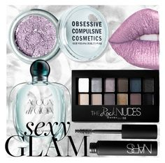 """""""Holiday Party Makeup"""" by kselmarandvald ❤ liked on Polyvore featuring beauty, Obsessive Compulsive Cosmetics, Giorgio Armani, Maybelline and NARS Cosmetics"""