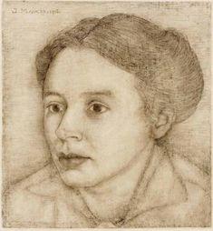 'Portrait of Anne Mankes', 1916, wife of the artist - Jan Mankes.