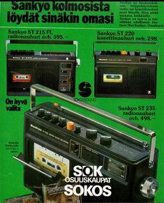 Sankyo radio 70-luku: meillä oli tällänen :)