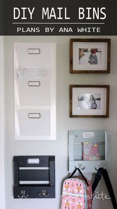 DIY Mail Bins - free plans and tutorial by Ana White