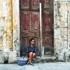 In every wall, every door, every corner, you can feel the beauty of Cuba. @billabongwomens ❤️ / photo by: @grantlegan