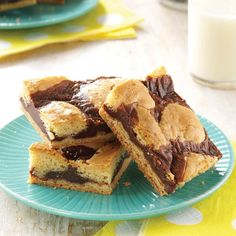 Can't Leave Alone Bars Recipe -Convenient cake mix hurries along the preparation of these tasty bars. I bring these quick-and-easy treats to church meetings, potlucks and housewarming parties. I often make a double batch so we can enjoy some at home. —Kimberly Biel, Java, South Dakota