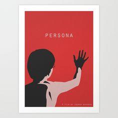 Persona Film Poster Directed by Ingmar Bergman, 1966