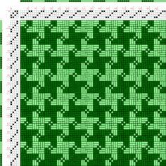 draft image: Figurierte Muster Pl. XIX Nr. 7, Die färbige Gewebemusterung, Franz Donat, 4S, 4T