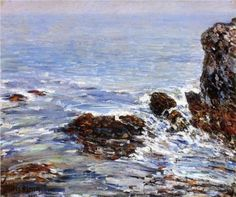 Frederick Childe Hassam Seascape hand painted oil painting reproduction on canvas by artist Boston, American Impressionism, Impressionist Artists, Seascape Paintings, Painting Abstract, Oil Paintings, Landscape Paintings, Landscapes, Portraits