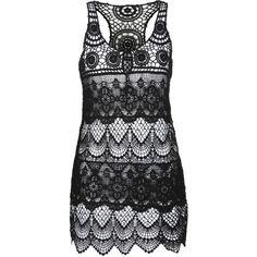 black crochet beach dress