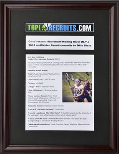 The perfect graduation gift? Get TopLaxRecruits.com commitment stories framed at discounted price - http://toplaxrecruits.com/perfect-graduation-gift-get-toplaxrecruits-com-commitment-stories-framed-discounted-price/
