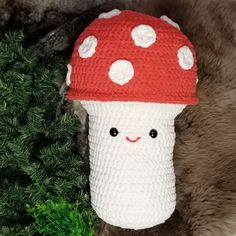 The Bernat Mushroom Stuffie is a cute and very cuddly friend you can crochet with Bernat Blanket! Easy to customize and perfectly huggable, it's a new free crochet pattern - video tutorials included! Love Crochet, Crochet Hats, Crochet Mushroom, Free Pattern Download, Video Tutorials, Grey Stripes, Stuffed Mushrooms, Crochet Patterns, Cabin