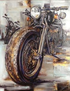 I find it appropriate to see a motorcycle painted with oils. Leads to the orig… I find it appropriate to see a motorcycle painted with oils. Leads to the original artist are appreciated- reverse searching didn't t…: DESENHOS Motorcycle Art, Bike Art, Motorcycle Birthday, Moto Bike, Mosaic Crosses, Home Decor Paintings, Oil Paintings, Tag Art, Art Oil