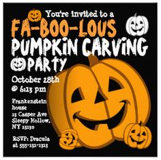 Pumpkin Carving Halloween Party