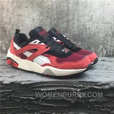 new style 5e118 2dde8 Puma R698 Classic Vintage Running Shoes Red Women men