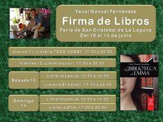 Esta semana es la última Feria del Libro de Tenerife en San Cristóbal de La Laguna. Empieza este miércoles, pero decidí no empezar tan pronto. La experiencia de pasar 5 días seguidos en la Feria de Santa Cruz fue demasiado agotadora. Por tanto, esta semana he acortado un poco el número de días.  Nos vemos allí :)