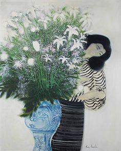 Andre Brasilier (France b. 1929) Grand bouquet au vase de Sicile (1978) oil on canvas 146 x 114 cm