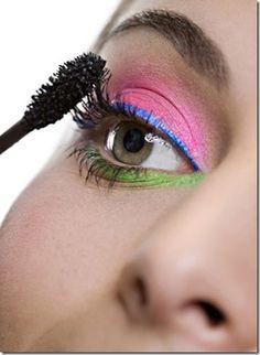 Maquiagem colorida!!!♥