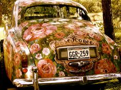 .A Hand-painted car. Why don't more people do this? We decorate everything else, why not cars.