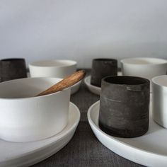 Bowls, plates and cups by Jono Smart