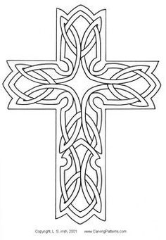 Celtic Carving Patterns - 4600 Free Patterns I give to you what was promised, but a lot better; I have established the list from the order of the bottom va Wood Carving Designs, Wood Carving Patterns, Celtic Patterns, Celtic Designs, Cross Patterns, Cross Coloring Page, Black Cherry Wood, Leather Working Patterns, Celtic Art