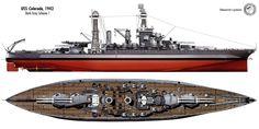 Battleship USS Colorado BB-45, early 1942.