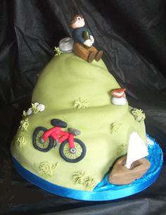 Bike hill cake