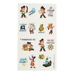 Jake and the Never Land Pirates Tattoos, Temporary Tattoos, Novelty Jewelry, Costumes, Accessories & Jewelry, Party Supplies - Oriental Trading