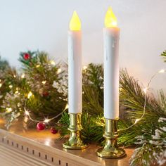 2 Gold Battery Window Taper Candles With Timer Led Candle Lights, Battery Candles, Flameless Candles, Taper Candles, Elegant Wedding, Windows, Gold, Wedding Things, Christmas Ideas