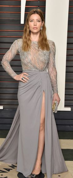 Jessica Biel in Dress – Zuhair Murad Shoes – Manolo Blahnik Jewelry – Piaget Purse – Roger Vivier