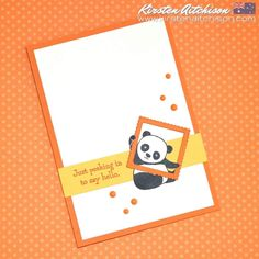 Kirsten Aitchison: Handmade with Love: Party Pandas Baby Cards, Kids Cards, Mini Albums, Panda Party, Get Well Cards, Animal Cards, Tampons, Greeting Cards Handmade, Homemade Cards
