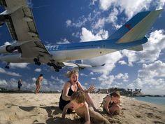 St Maarten Airport - Wow that was close!!!