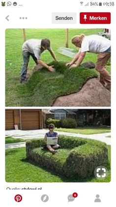 Bank from the meadow or vice versa? - # otherwise # from # bank . – … – Garten Bank from the meadow or vice versa? Backyard Garden Design, Backyard Landscaping, Garden Art, Backyard Ideas, Landscaping Ideas, Rocks Garden, Garden Grass, Diy Garden, Garden Seating
