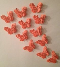 Coral 3D Butterflies by MonAmiePaperie on Etsy, $7.44
