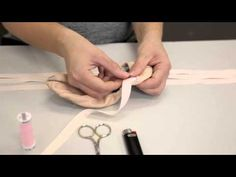 ▶ Premier School of Dance: How to sew ribbons on flat ballet shoes