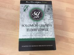 Solomon Grundy ELDERFLOWER   WINE kit 6 bottles 7 days FREEPOST UK