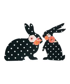 Take a look at this Polka Dot Bunny Décor Set today!