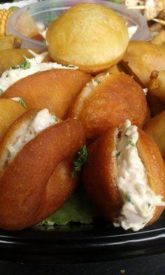Mini vetkoek on a platter. Platter, Street Food, Finger Foods, Baked Potato, Addiction, African, Range, Fresh, Drink