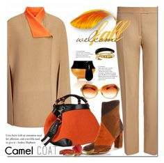"""""""Camel Coat"""" by jecakns ❤ liked on Polyvore featuring Joseph, Caroline De Marchi, Yves Saint Laurent, Michael Kors, Oliver Peoples, outfit, falltrend and camelcoat"""