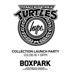Hype x teenage mutant ninja turtles launch party announced.  #Justhype #hype #hypeclothing #hypexturtles