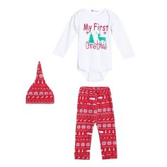 ad5d428c84b0 Baby First Christmas Outfit UNISEX Boys Christmas Outfits