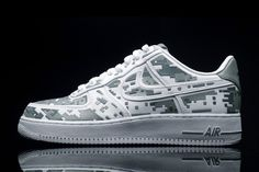 "I've always wanted the styles nobody else likes. -Nike Air Force One ""digital camo"""