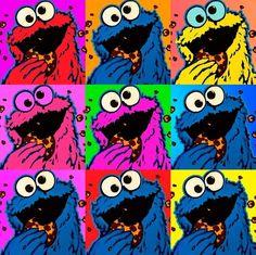 Monster Art, Cookie Monster, Digital Prints, Digital Art, Oscar The Grouch, Watch Cartoons, Jim Henson, Painted Rocks, Scooby Doo