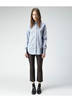 3.1 Phillip Lim / Cropped Shadow Shirt   La Garconne #shirt #PhillipLim