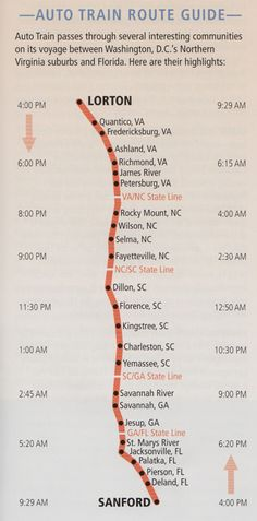 amtrak auto train, did this and loved it. This is the only way we will go to and from Florida