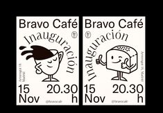 Bravo Café on Behance Graphic Design Posters, Graphic Design Illustration, Graphic Design Inspiration, Identity, Toys For 1 Year Old, Poster Layout, Art Graphique, Portfolio, Behance