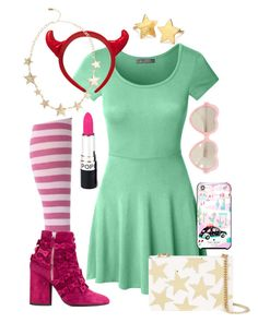 """""""Star {Star vs. The Forces of Evil} Inspired Outfit"""" by the-disney-outfits ❤ liked on Polyvore featuring LE3NO, STELLA McCARTNEY, Laurence Dacade, Kensie, Cutler and Gross, Kate Spade and Pernille Corydon"""