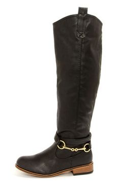 Belted Riding Boots