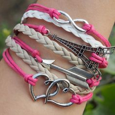 arrow-heart-to-heart-infinity-eiffel-tower-bracelet-charms-for-girl-friend